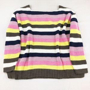 Caslon Striped Knit Boat Neck Sweater